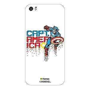 Hamee Marvel iPhone 6S Plus / 6 Plus Case Cover Captain America Pixels White