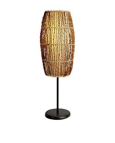 ORE International Rattan Table Lamp, Natural