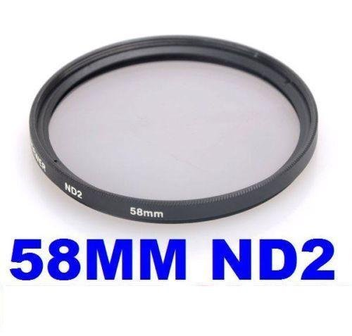 Neewer 58mm Neutral Density ND2 Filter For Canon Digital Rebel