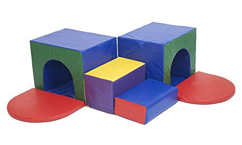 ECR4Kids SoftZone Corner Tunnel Maze Foam Climber - 1