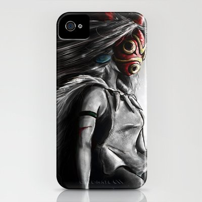 Society6/ソサエティシックス iphone4/4Sケース もののけ姫 ジブリ Miyazaki's_Mononoke_Hime