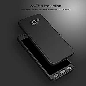 Micomy Ipaky 360 Degree All-round Protective Slim Fit Front And Back Case Cover for Samsung Galaxy A7 (2016) -Black With Tempered Glass Screen Protector