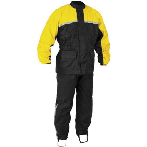 River Road High-N-Dry 2-Piece Rain Suit (Black/Yellow, XX-Large)