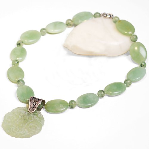 Smithsonian Serene Jade Necklace