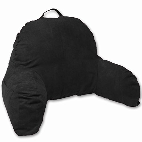 Microsuede Bedrest Pillow Black - Best Bed Rest Pillows with Arms for Reading in Bed (Rest Upright Pillow compare prices)