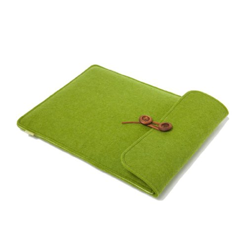Suoran Dell Xps 12 12.5 Inch Sleeve Case Cover Portable Computer Sleeve Laptop Bag Wool Felt Sleeve For Dell Xps 12 12.5 Inch-Brown