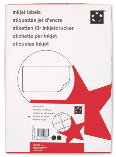 5 Star Lot de 1600 étiquettes adresse pour impression jet d'encre Blanc 99,1 x 34mm