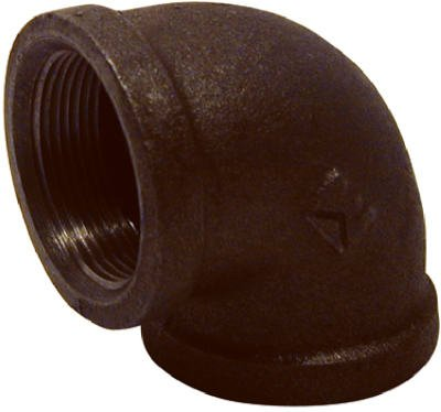 Pannext Fittings B-L9015 1-1/2 Blk 90 Deg Elbow Black Pipe, Elbows