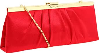 Jessica McClintock 450970 Rectangle Clutch,Red,one size