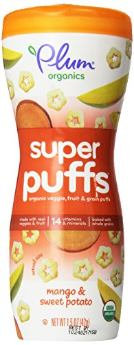 Plum Organics Super Puffs Orange - Mango & Sweet Potato - 1