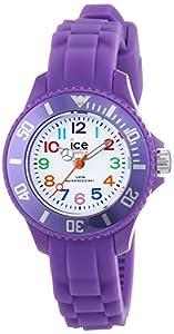 ICE-Watch - Montre enfants - Quartz Analogique - Ice-Mini - Purple - Mini - Cadran Blanc - Bracelet Silicone Violet - MN.PE.M.S.12