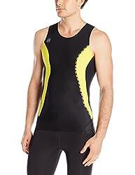 SKINS Mens Skins DNAmic Men's Compression Sleeveless Top, black/Citron, Xx-Large