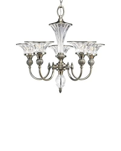 Progress Lighting Roxbury 5-Light Chandelier, Classic Silver