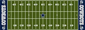 NFL Dallas Cowboys 72-Inch-by-24-Inch Field Runner Rug