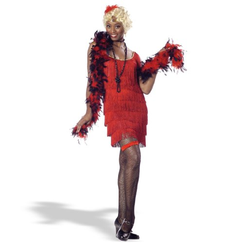 California Costumes Fashion Flapper Set, Red, Small