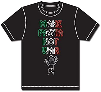 Hetalia - Make Pasta Not War T-Shirt L at Amazon Men's Clothing