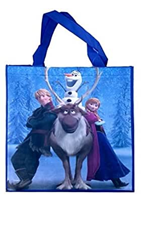 Disney Frozen Novelty Recylclable Tote Bag-1 bag (Group (Dark Blue))