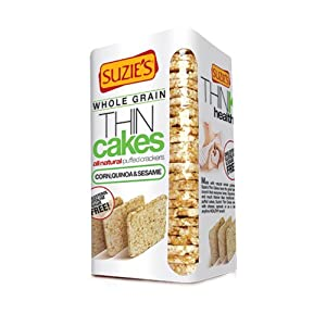 Suzie's Thin Cakes, Corn Quinoa And Sesame, 4.6 Ounce (Pack of 12)
