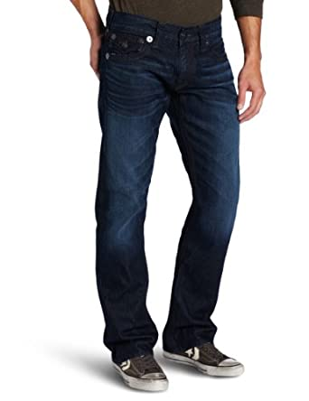 True Religion Men's Ricky Straight Big T Jeans M24859MBQT2 Blue 42