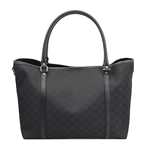 Outlet Gucci Womens Black Gg Canvas Tote Bag 265695 G1X9G 1000