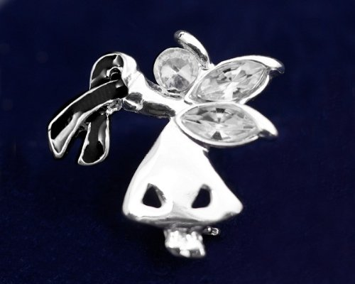 Black Ribbon Pin-Angel By My Side (27 Pins)
