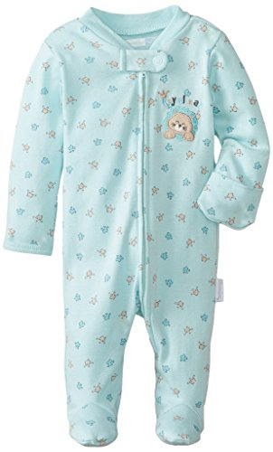 Vitamins Baby Baby-Boys Newborn Royal Nap Footed Coverall, Blue, New Born back-978464