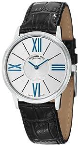 Stuhrling Original Men's 533.01 Classic Ascot Solei Ultra Slim Silver Dial Watch