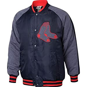 Boston Red Sox Majestic MLB Coaches Choice Jacket (Navy) by Majestic