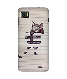Falling Cat Lenovo K860 Case