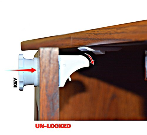 Magnetic-Cabinet-Locks-Baby-Protection-Against-Harmful-Products-Perfect-For-Cabinets-and-Drawers-Quick-and-Easy-Installation-No-Drilling-Required-1-Child-Safety-Product-4-Locks-1-Key