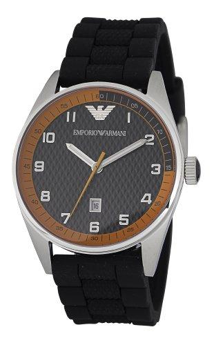 Emporio Armani Sports Collection AR5876 - Reloj analógico de cuarzo para hombre, correa de silicona color negro