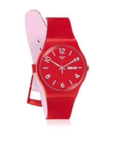 Swatch Reloj de cuarzo Unisex Backup Red  41 mm
