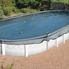 15 39 X 30 39 Oval Leaf Net Winter Pool Cover