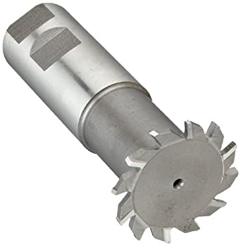 "Niagara Cutter N11050 T-Slot Shank Type Cutter, High Speed Steel, Uncoated (Bright), Weldon Shank, 10 Helix Angle, 2"" Cutter Diameter, 12 Tooth, 5/32"" Width"