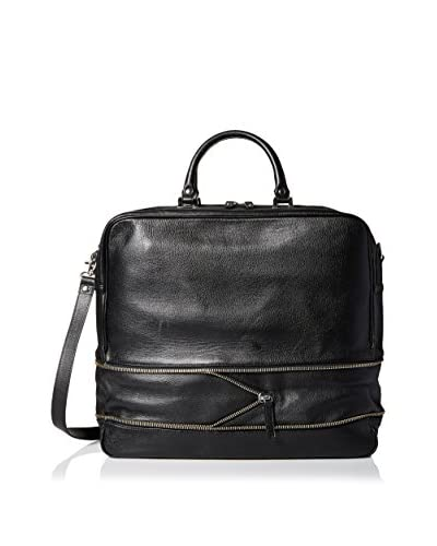 The Kooples Men's Full Grain Leather Weekend Bag, Black