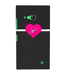 Love Pattern 3D Hard Polycarbonate Designer Back Case Cover for Nokia Lumia 730 :: Microsoft Lumia 730 :: Microsoft Lumia 735