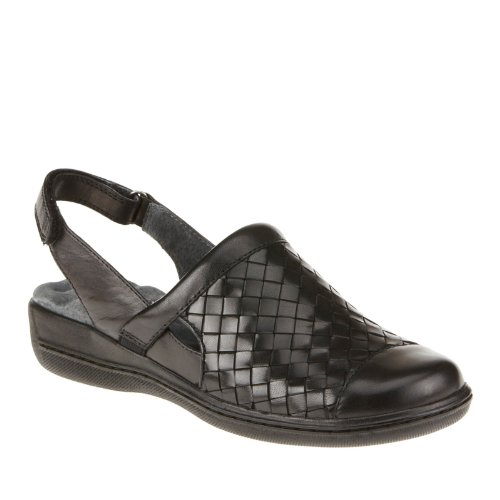 Softwalk Women'S Salina Woven Black Burnished Veg Kid Leather 12 M Us