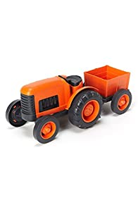 Green Toys Recycled Made in USA Tractor (Orange)