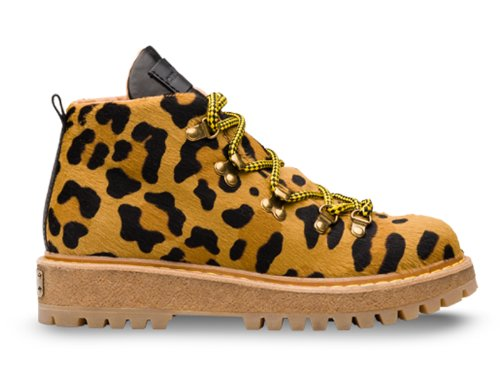 Car Shoe stivaletti in cavallino stampato leopardo - Codice modello: KDT04J XRY F0G3P F 045 - Taglia: 36 IT