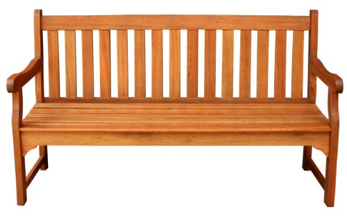 LuuNguyen – Adam Outdoor Five Foot Hardwood Bench (Natural Wood Finish)