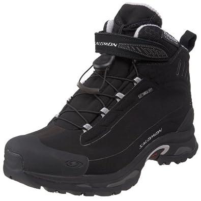 Salomon Women's Deemax 2 Dry Winter Boot, Black/Black/Aluminum, 9.5 M