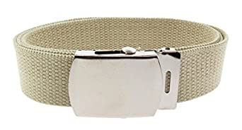 Canvas Webbing Belt Beige