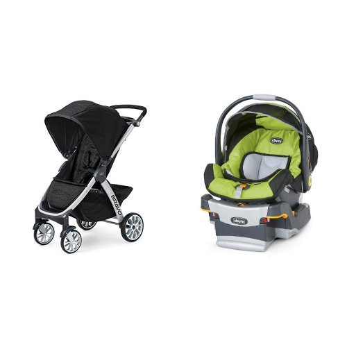 Chicco Bravo Stroller & Chicco Keyfit Infant Car Seat in Surge - 1
