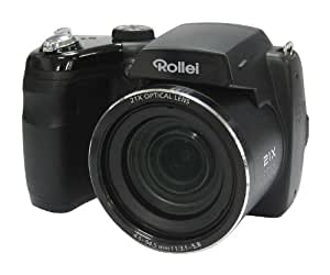 Rollei Powerflex Digitalkamera 210 HD (16 Megapixel, 21-fach optischer Zoom, 25 mm Weitwinkelobjektiv, HD Video, 7,62 cm (3 Zoll) Display) schwarz