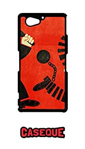 Caseque Crime Hindrance Back Shell Case Cover For Sony Xperia Z2 Compact