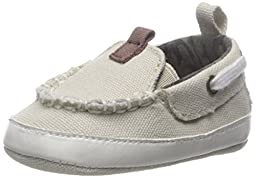 ABG Baby Canvas Boat Shoe (Infant), Tan, 9-12 Months M US Infant
