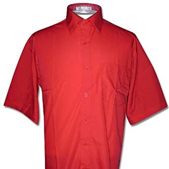 Men's Short Sleeve RED Color Dress Shirt size Small at ...