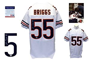 Lance Briggs Signed White Jersey - PSA DNA - Chicago Bears Autograph