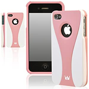 CaseCrown EXO Case for Apple iPhone 4 & 4S (AT&T, Sprint, & Verizon compatible) - Pink/White