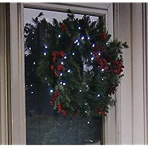 24 LED Winterberry Christmas Wreath Garland